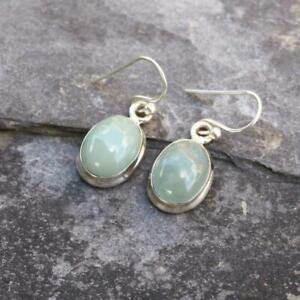 To Clear Aquamarine 925 Sterling Silver Drop Earrings Gemstone Jewellery