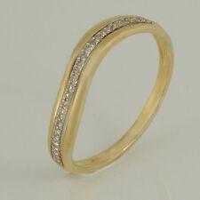 Echtschmuck aus Gelbgold mit SI Reinheit runde Ringe