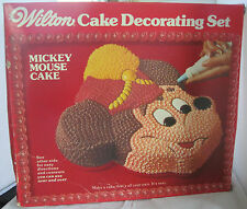 VINTAGE 1974 WILTON MICKEY MOUSE CAKE PAN DECORATING SET - NEW IN BOX