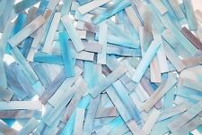 "40 2"" Twilight Blue Tumbled Stained Glass Mosaic Tiles"