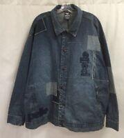 Vintage Pelle Pelle Patchwork Denim Jacket Size 2XL Blue