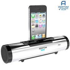 Docking Station Speaker iPhone iPod charger Portable Dock AZATOM iFlute Silver