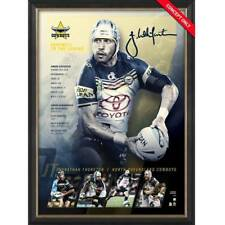 132c243165a Johnathan Thurston Signed North Queensland Retirement Official NRL Print  Framed