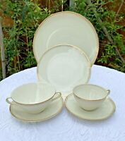 Winterling Bavaria China 22k gold Mid Century Modern Astrid 4 Place Set 24 Pc