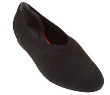 Rockport Total Motion Leather Envelope Flats Black Women's Shoes 5.5 New