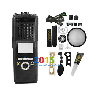 Replacement front Housing Case kit and knobs for motorola XTS5000 M2 Radio Black