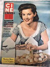 Ciné Revue N°16 du 19 avril 1957 /  Barbara Bates - François Périer