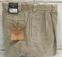 BRAND NEW-Bills khakis M2P-S6C Size 37 PLEATED 6 WALE CORD SAND MSRP $165