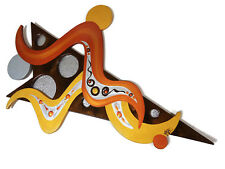 Denali Star Wall Sculpture, wood and metal art, Contemporary Modern Abstract