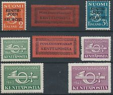 Finland 1941-1944 MNH - WWII - Military Field Post - Scott M1-M7 -M1 Type I & II