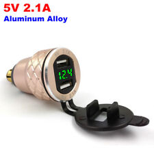 2.1A Dual USB Charger For BMW Motorcycle Adapter Metal Cigarette Lighter EU Plug