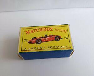 MATCHBOX 73 FERRARI.  RACING CAR . MINT BOX!!