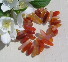 Orange Carnelian Crystal Gemstone Elasticated Hypoallergenic Chakra Bracelet