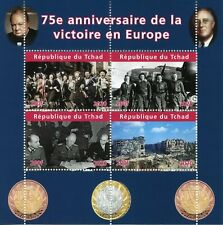 Chad Military Stamps 2020 CTO WWII WW2 VE Day 75th Anniv World War II 4v M/S