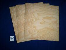 Esche Maser  Furnier Intarsien  1 Paket  265 x 200-250 mm  4 Blatt  Nr. 905