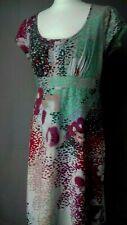 Size 10 WHITE STUFF Colourful Linen Viscose Mix Multicoloured Summer Dress