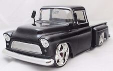 JADA BIG TIME 1955 CHEVY STEPSIDE BLACK 1/24 DIECAST CARS NEW WITHOUT BOX