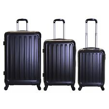 Slimbridge Lydd Set of 3 Hard Suitcases Black