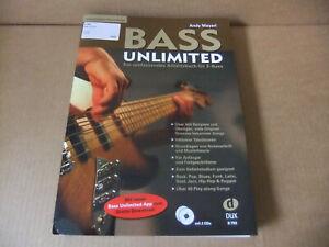 MANGEL Andy Mayerl Bass Unlimited Lehrbuch Schule Noten mit 2 CDs