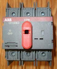 NEW ABB Asea Brown Boveri OT100E3 Disconect 3 pole 100 amp 600 volt UL listed