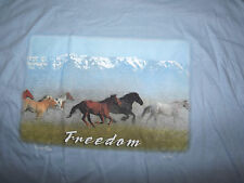 "Nwt PRAIRIE SONG Light Blue TEE "" Western Spirit - FREEDOM"" Medium"