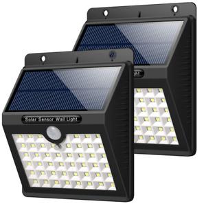 Solar Lights Outdoor, HETP 46 LED Solar Motion Sensor Security Lights Waterproof