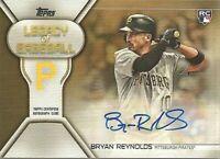 2019 Topps Update Gold Legacy of Baseball RC Auto /50 Bryan Reynolds Pirates