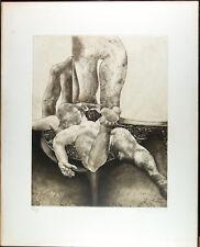 """Akt Erotik/Künstler unbekannt / Radierung, """"Erotische Szene"""", sig. und dat. 1971"""
