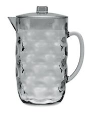 80 oz. Clear Light Grey Acrylic Plastic Pitcher great for Iced Tea, Juice, Water