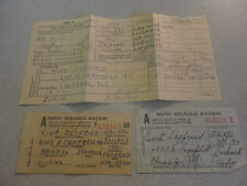Rare 1942-44 WWII 2 Basic Mileage Ration Cards and Tire Inspection Record