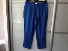 East Capri pants three quarter length  blue  trousers 100% linen size 10 bnwt