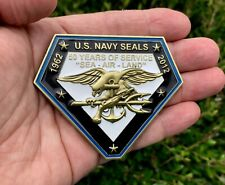 Navy Seals Seal Team 6 VI Trident NSW 50 Years Challenge Coin CPO Chief Non NYPD