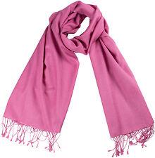 Pashmina Schal Rosé, Stola groß  70% Cashmere 30% Seide, silk scarf rose