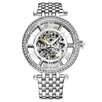 Stuhrling Women's Automatic Wind 38mm Stainless Steel Link Bracelet Watch