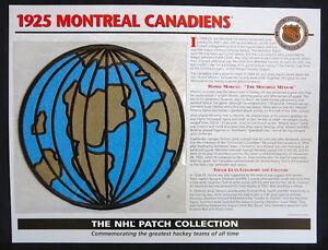 1925 MONTREAL CANADIENS Willabee Ward NHL THROWBACK HOCKEY TEAM LOGO PATCH Card
