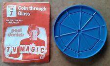 Vintage Paul Daniels TV Magic Trick No.7 Coin Through Glass RARE