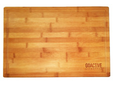 Bamboo Cutting Board Large End Grooves Chopping Wood Kitchen Butcher Block