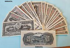 ESPAÑA COLONIAL Alfonso XIII Billete SIN CIRCULAR 20 centavos Banco Español 1897