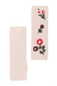 $138 Kate Spade New York In Bloom Fingerless Floral Rib Gloves, Light Pink, O/S