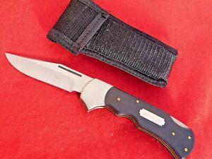 "Barking Dog mint 5"" closed big lockback knife & sheath"