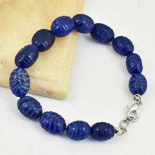 WHOLESALE PRICE 62.35 CTS EARTH MINED RICH BLUE SAPPHIRE ROUND BEADS BRACELET