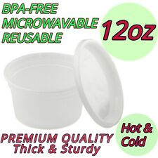 12oz Food Meal Prep Deli Containers BPA FREE Premium Heavy Duty Lunch Snack Soup