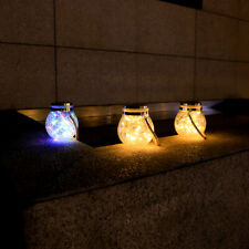 solar hanging lights for decorative outdoor garden,Yellow *2+Colored*1
