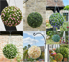 Artificial Hanging Flower Ball Outdoor Decor Topiary Plant Rose Lily Patio Decor