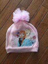 Disney Frozen Pink Knit Hat ~ Disney Store ~ Anna & Elsa ~ Size XS