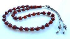 Amber Bakelite 33  Prayer Worry Beads Tasbih Tasbeh