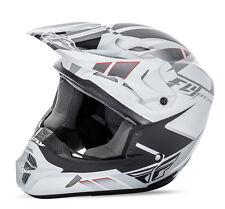 Fly Racing Kinetic Impulse MX motocross helmet matte white adult medium 73-3361M