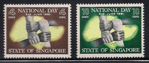 Singapore  1961  Sc # 51-52   MNH   (1-6853)