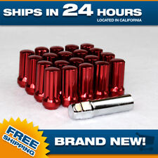 """20 Red Spline Lugnuts with Key for Chevy trucks 14x1.5 Extended Tall Closed 2"""""""
