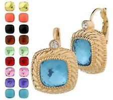 Joan Rivers 10 Color Changeable Goldtone On Trend Leverback Earring